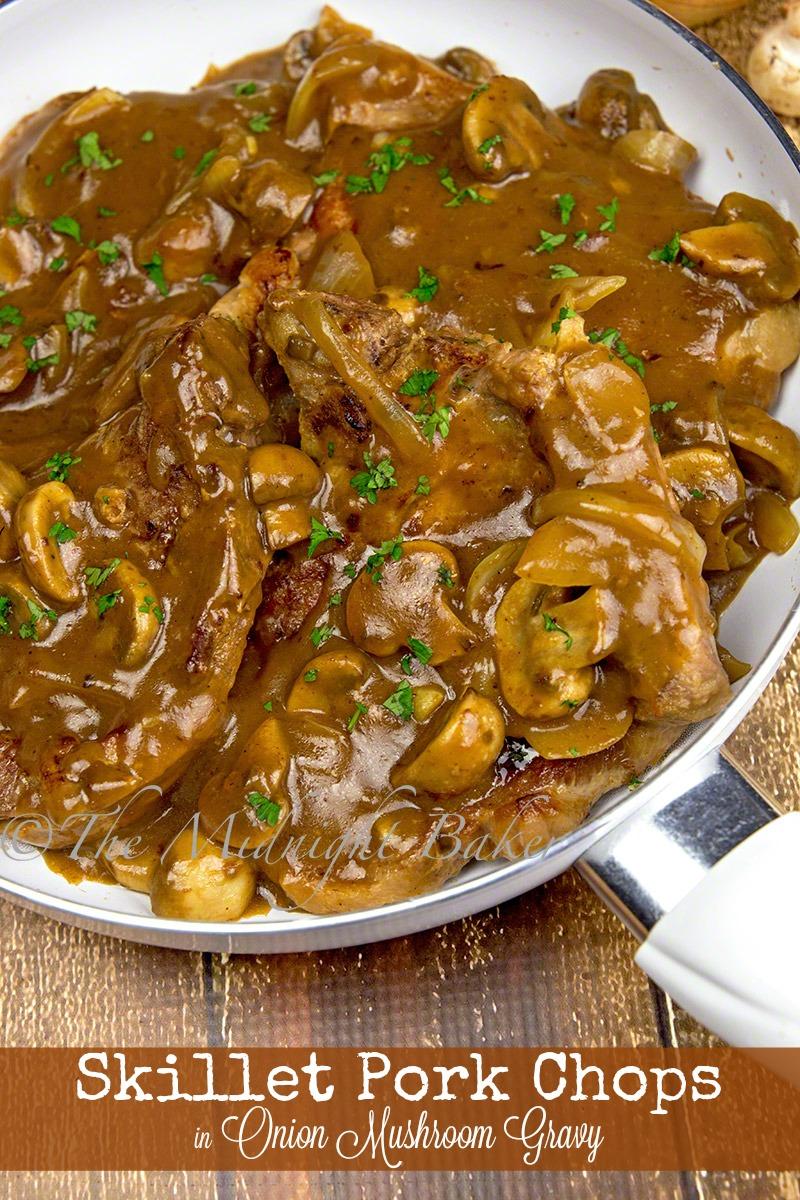 Pork Chops in Onion Mushroom Gravy