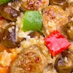 Delicious and filling. Uses leftover rice and chicken sausage and is ready in 15 minutes
