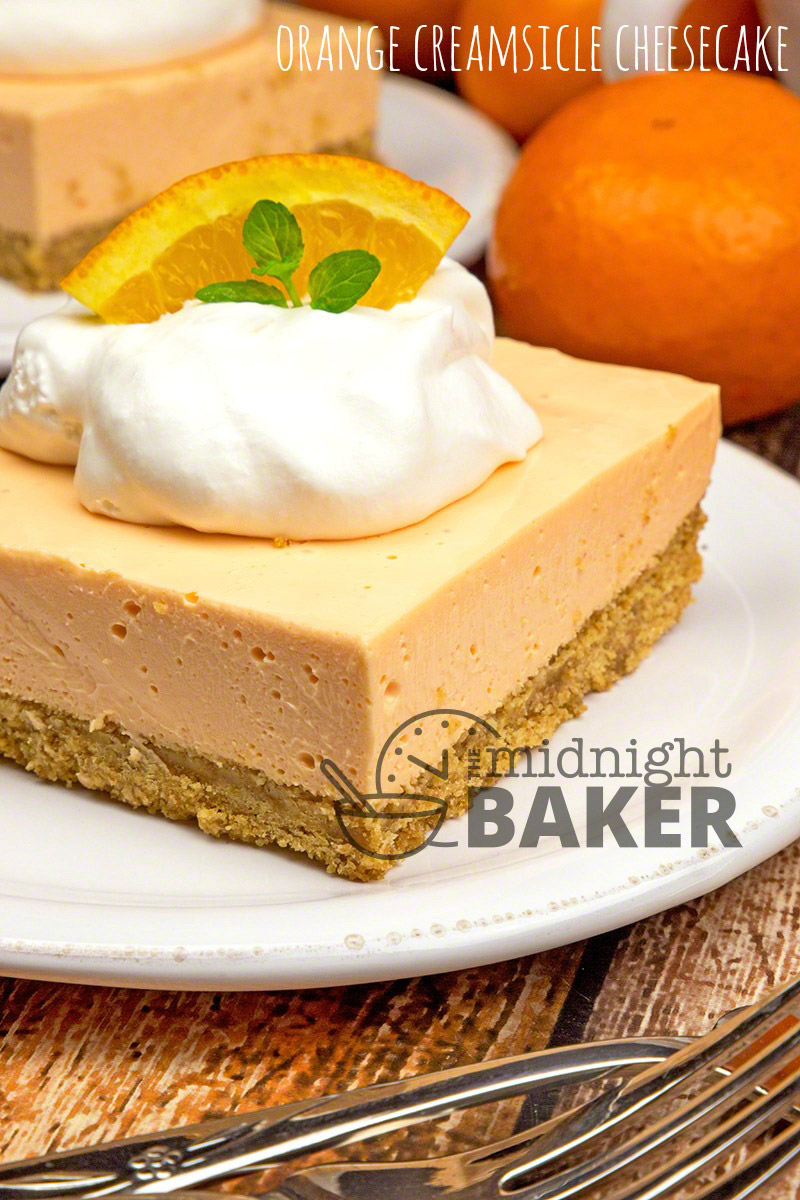 Easy cheesecake dessert bars that taste like the famous orange creamsicle ice cream pops.