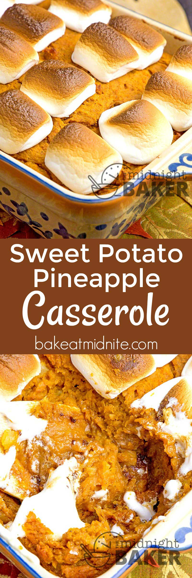 Yummy sweet potatoes and tangy pineapple make this casserole a taste sensation!