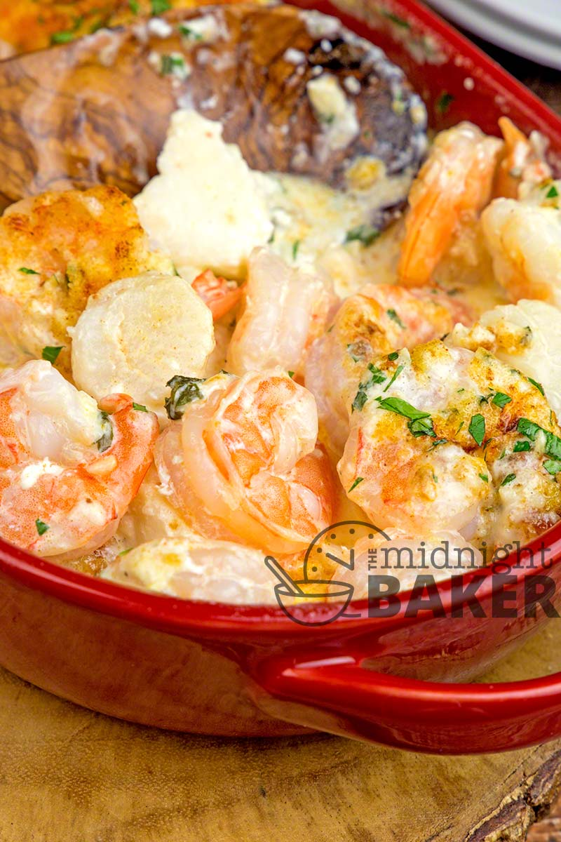 If you love shrimp and scallops, you'll love this seafood casserole. Easy to make!