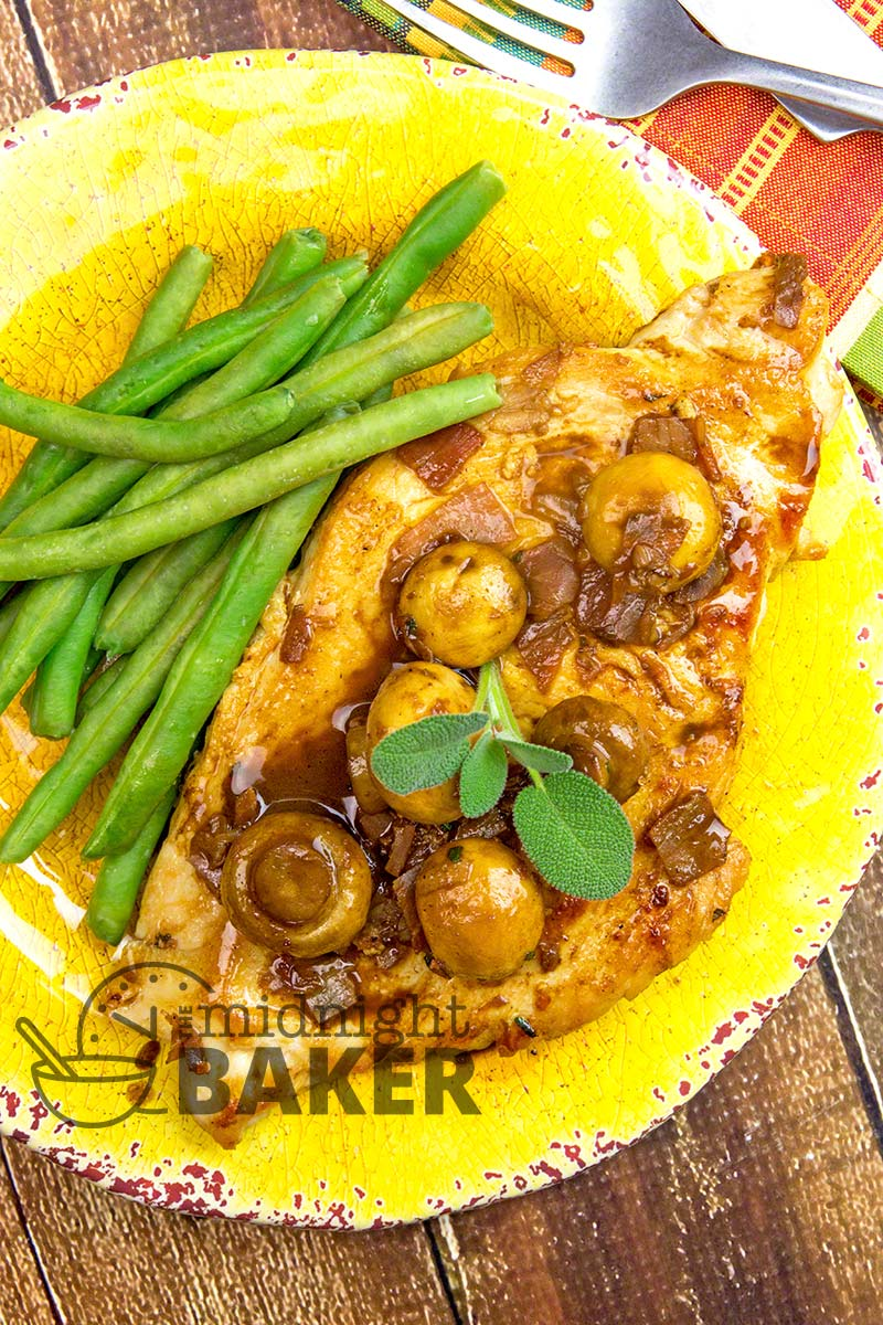 Very similar to chicken marsala and easy to make