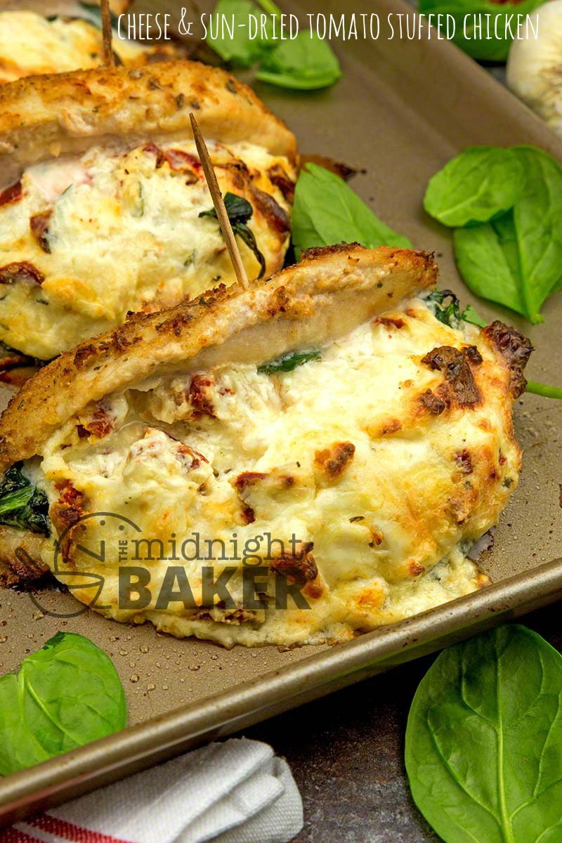 Tender chicken breast stuffed with rich cheese and sun-dried tomatoes. Easy to make.
