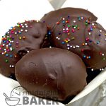 Just in time for Easter. Dark chocolate covered peanut butter bonbons. Easy to make too.