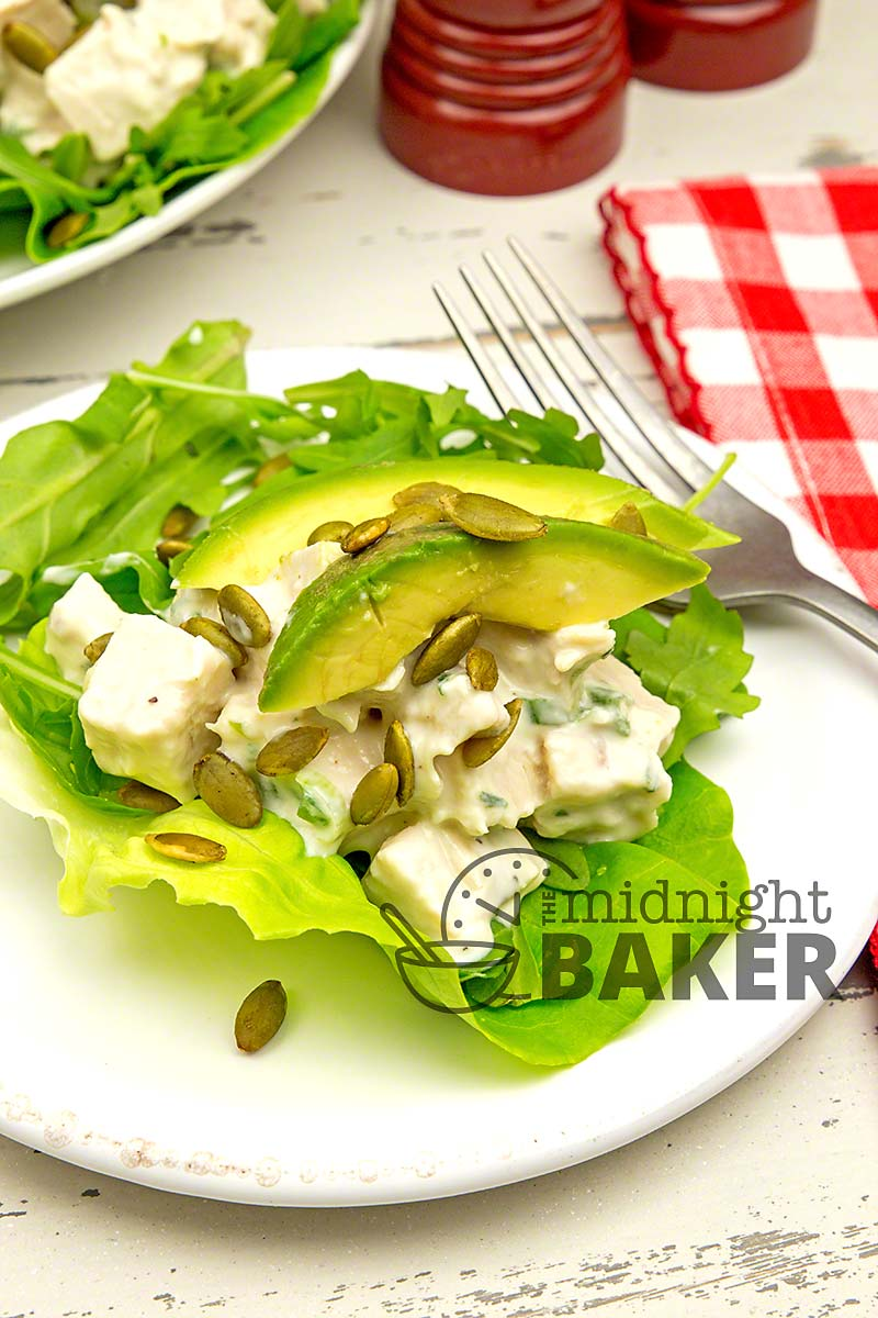 A non mayonnaise based dressing makes this chicken salad special. Perfect hot weather dinner