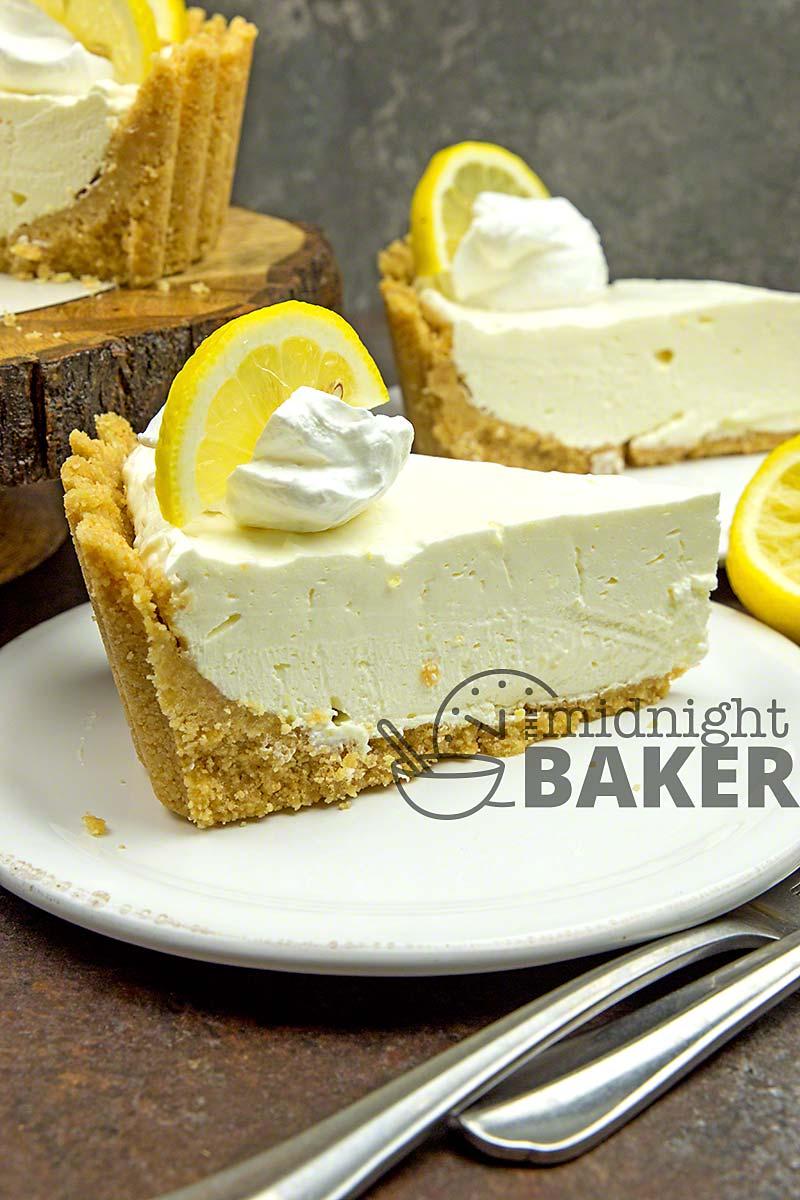 A light and elegant no-bake pie bursting with lemon flavor