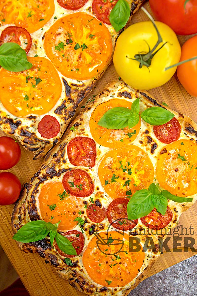 Delicious and easy way to use those home-grown tomatoes and herbs!