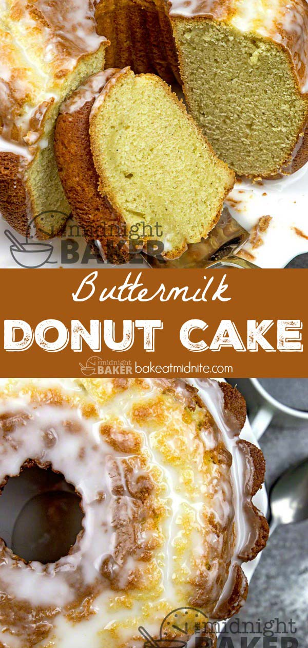 A cake with the great taste of buttermilk donuts, but less fat than donuts