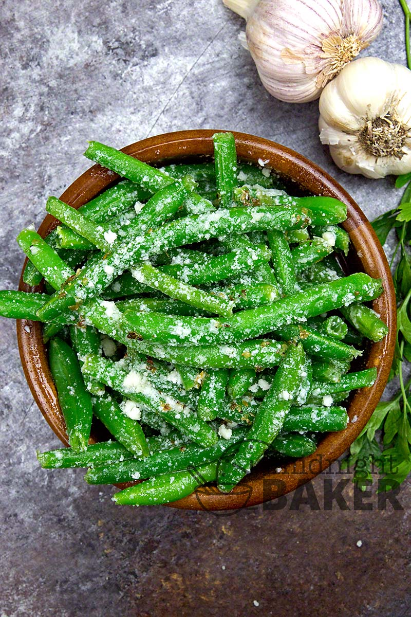 You can serve this green bean salad hot or cold.