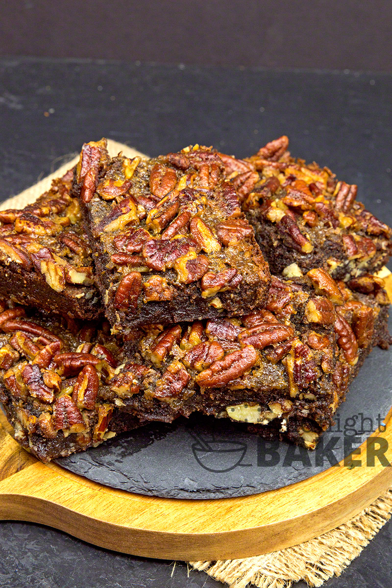A touch of bourbon makes these pecan pie brownies extra special.