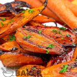 Carrots roasted with a balsamic glaze are a tasty holiday side dish.