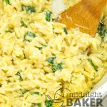 Creamy risotto made with orzo pasta