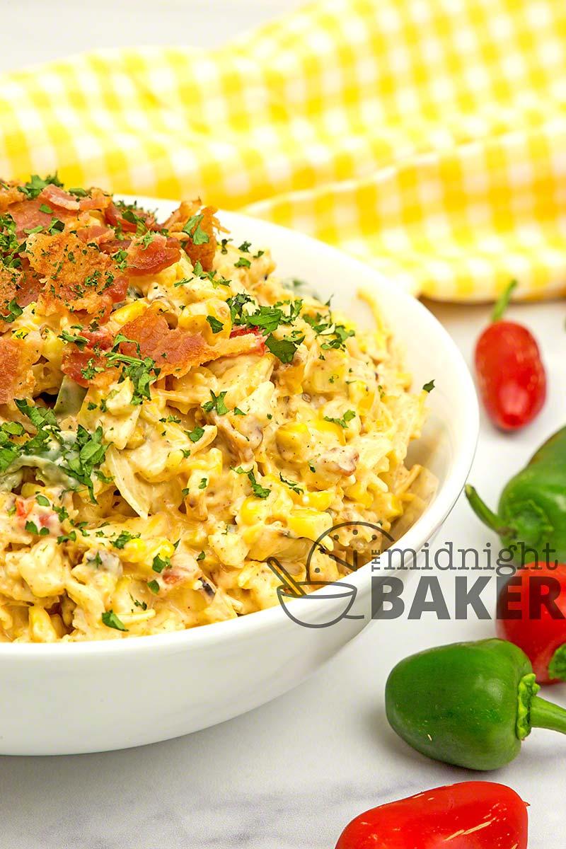 Jalapeño popper corn salad