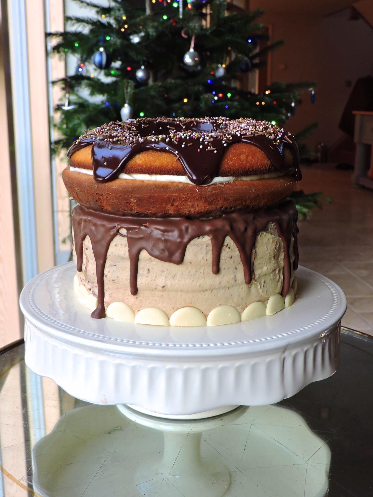 Giant Doughnut Birthday Cake Bakedbyh