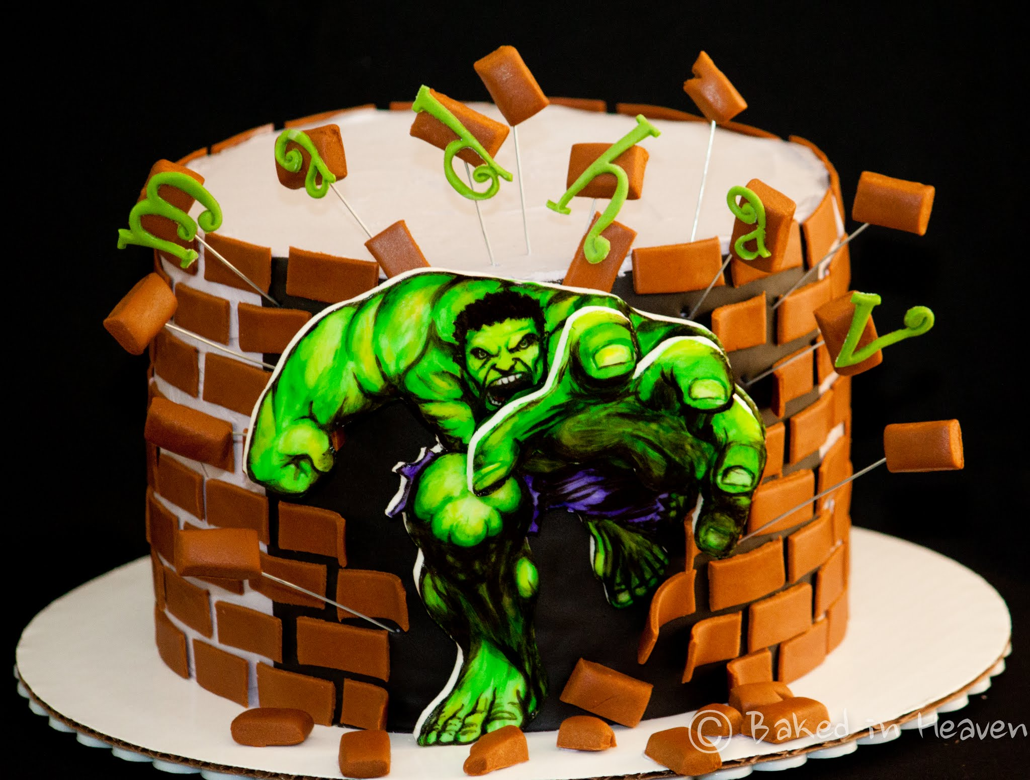 Hulk Smash Cake Baked In Heaven