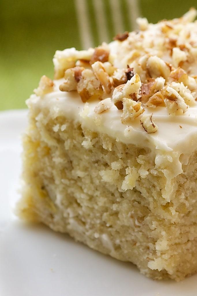 Banana Cake With Cream Cheese Frosting Bake Or Break