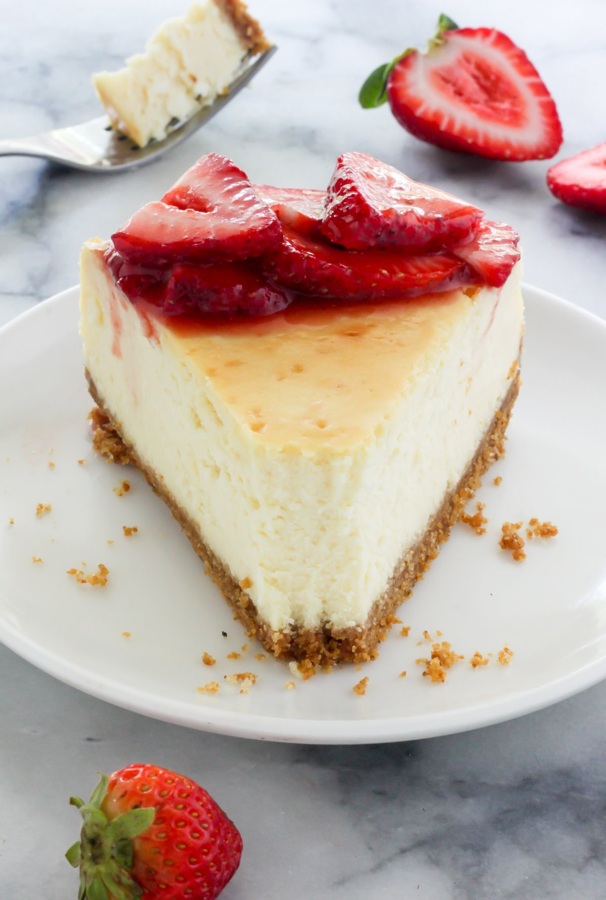 Fresh Strawberry New York Cheesecake Recipe