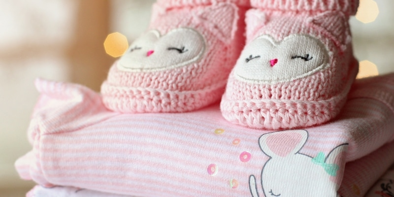 baby booties and clothes