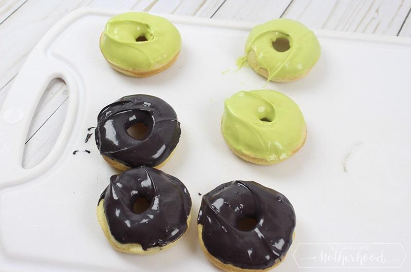 Halloween Monster Donuts Preparation 5