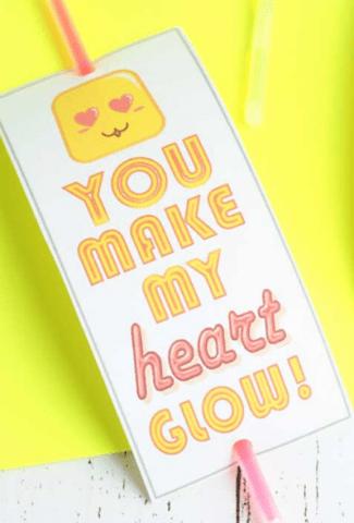 glow stick card