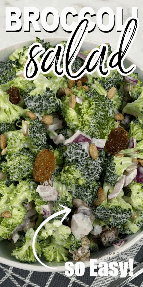 This easy broccoli salad recipe combines some of the best flavors through raw broccoli florets, sunflower seeds, sultana raisins topped with a creamy dressing that everyone will love!