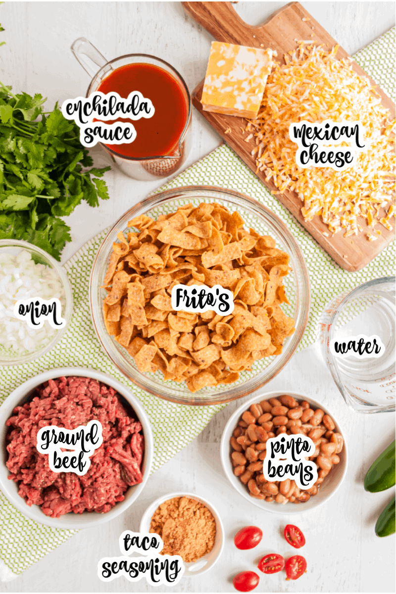 ingredients for Frito Pie