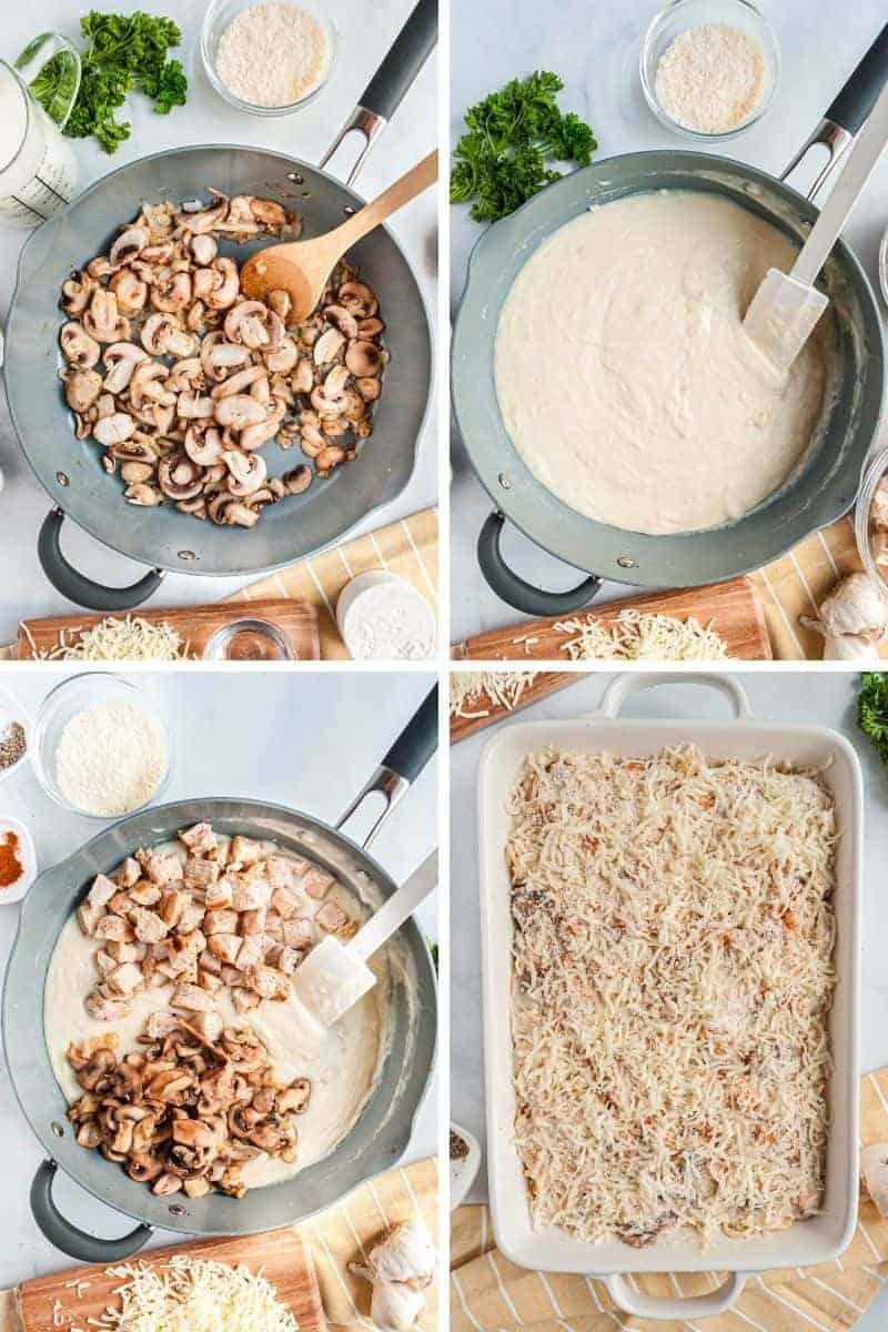 steps to make chicken tetrazzini