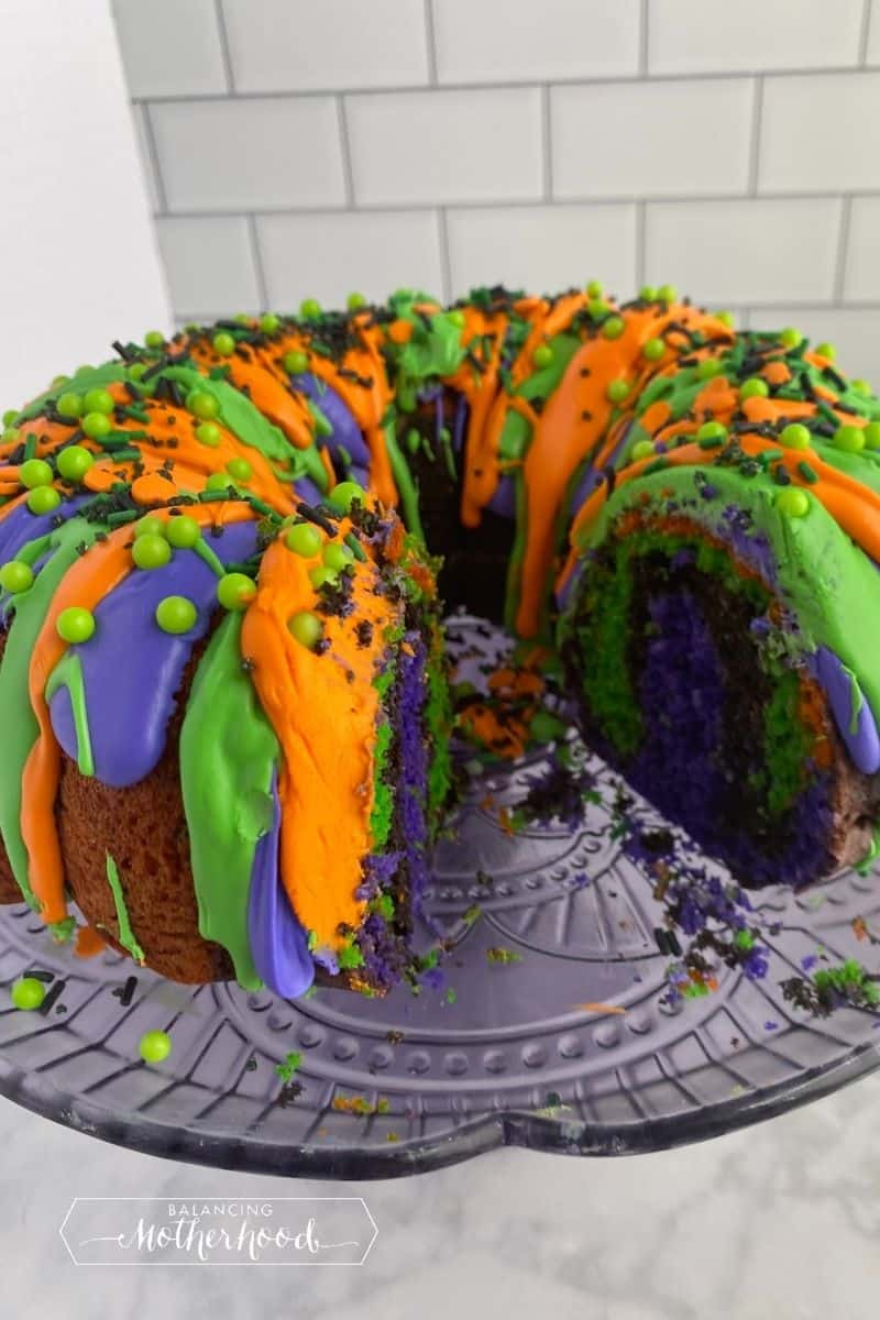 piece cut out of bundt cake