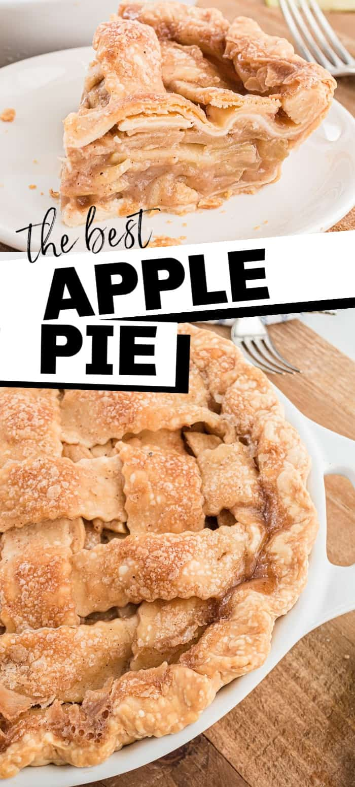 This homemade apple pie is piled high with apples and topped with a caramel sauce that make make an amazing crust.