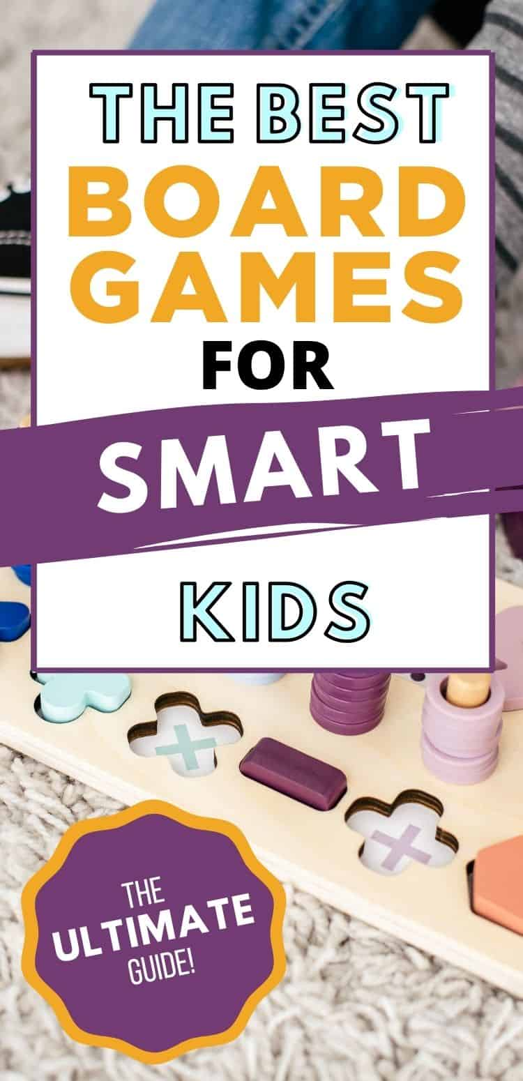 Got a smart kind on your hands? They like math and science and might prefer to practice math for fun?? Try some of these best board games for smart kids. It's the ultimate list of games for smart kids!
