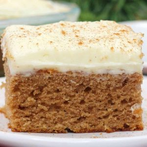 close up of side of gingerbread cake