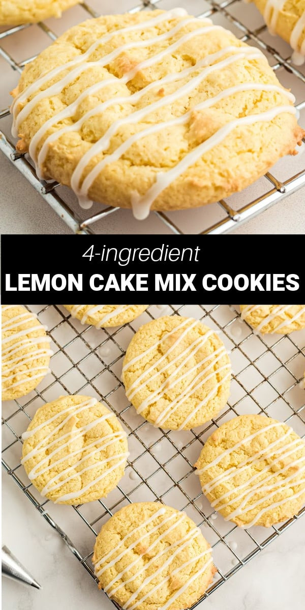 Lemon Cake Mix Cookies only need 4 simple ingredients to make refreshing chewy lemon cookies. These cookies are a super simple treat that's perfect any time of the year.