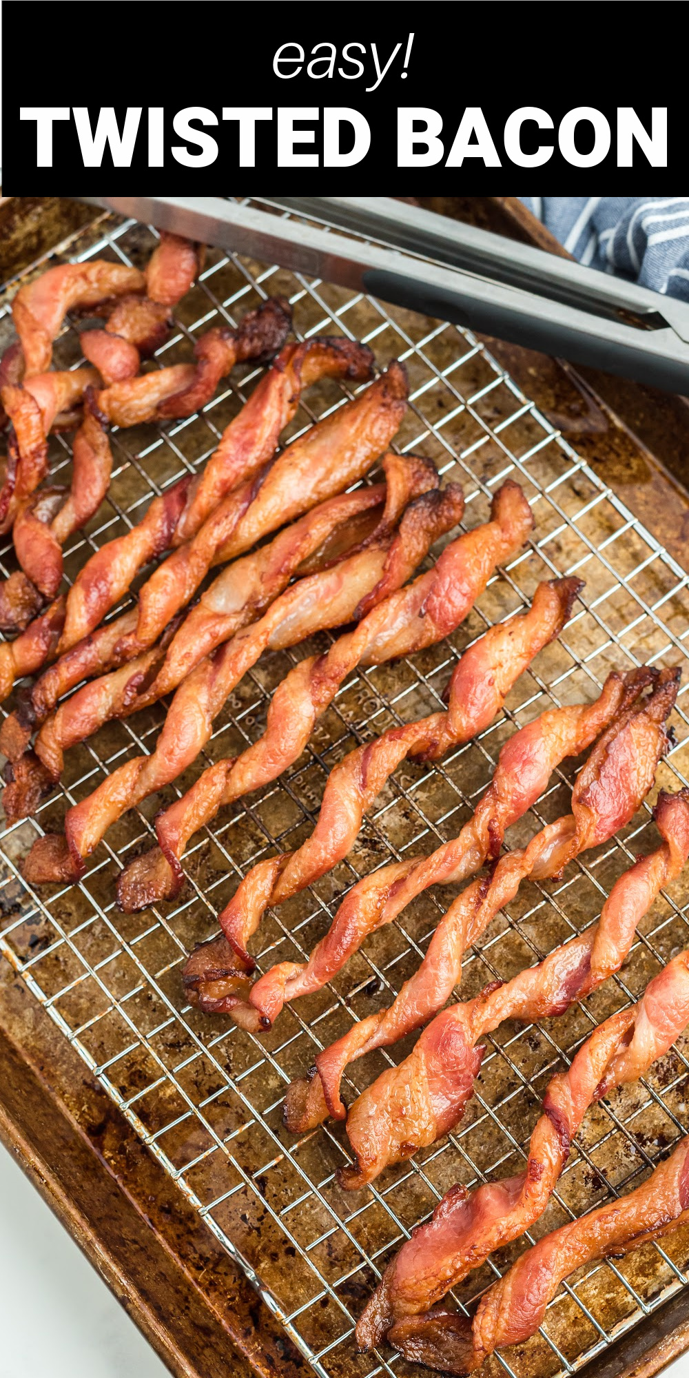 Twisted bacon is the perfect combination of crispy and chewy bacon made in the oven with less mess! This Tik Tok sensation is the best way to make bacon and after you make it once you'll know why it's here to stay!