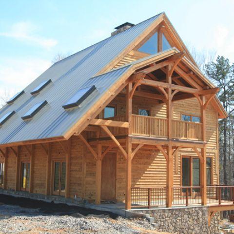 Custom Timber Frame Home Ballard Mensua Architecture