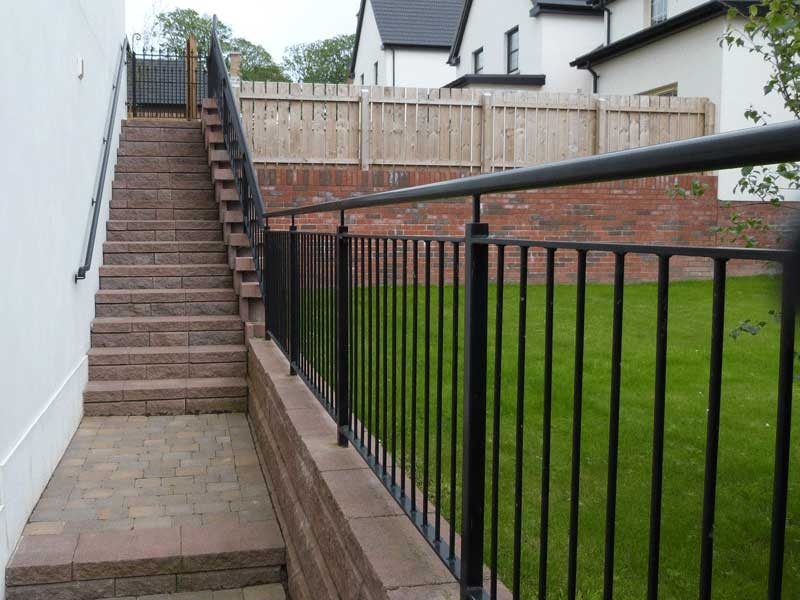 Steel Handrails Northern Ireland Bam Fabrications | Metal Handrails For Outdoor Steps | Outside | Hand | Backyard | Wood | Contemporary