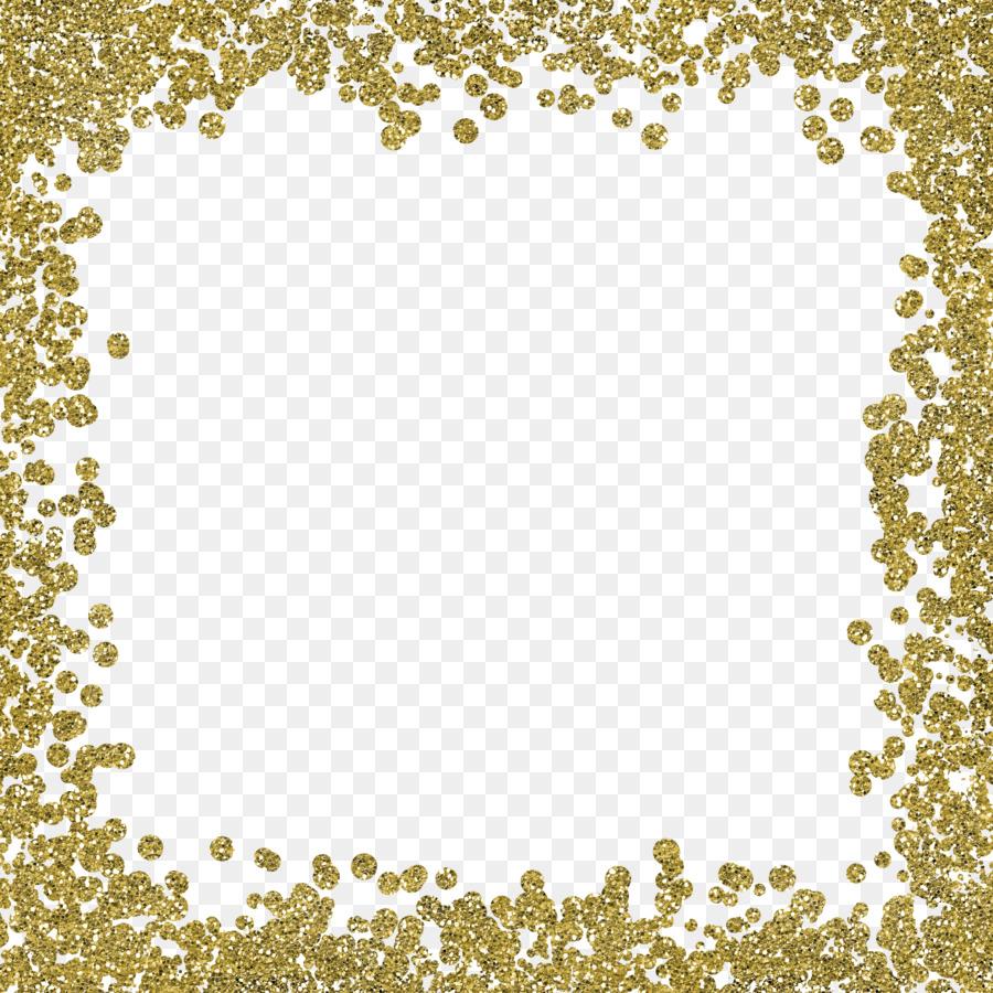 Wedding Invitation Gold Glitter Clip Art Gold Color Border Frame 3600 3600 Transprent Png Free
