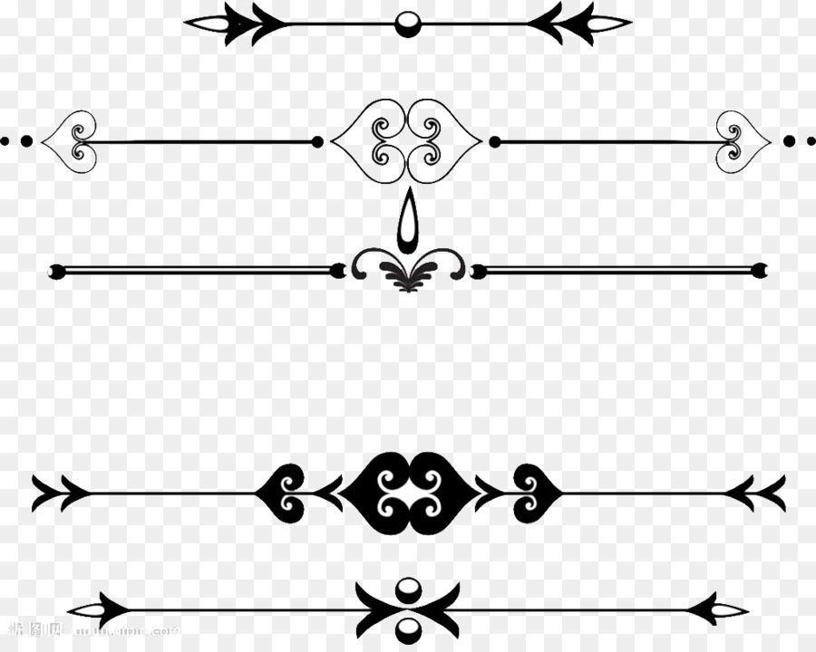 Decorative Line Dividers Transparent