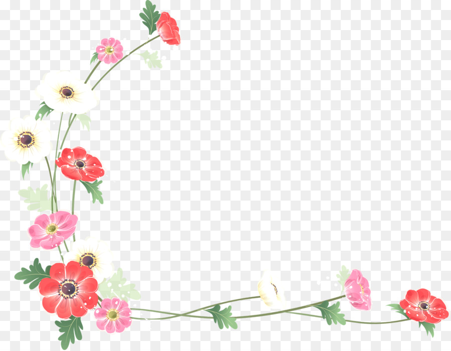Borders And Frames Flower Watercolor Painting Clip Art Flower Border 1600 1241 Transprent Png