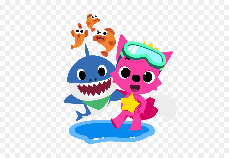 Pinkfong Baby Shark Song Little Baby 618 618 Transprent Png Free Download Art Fictional