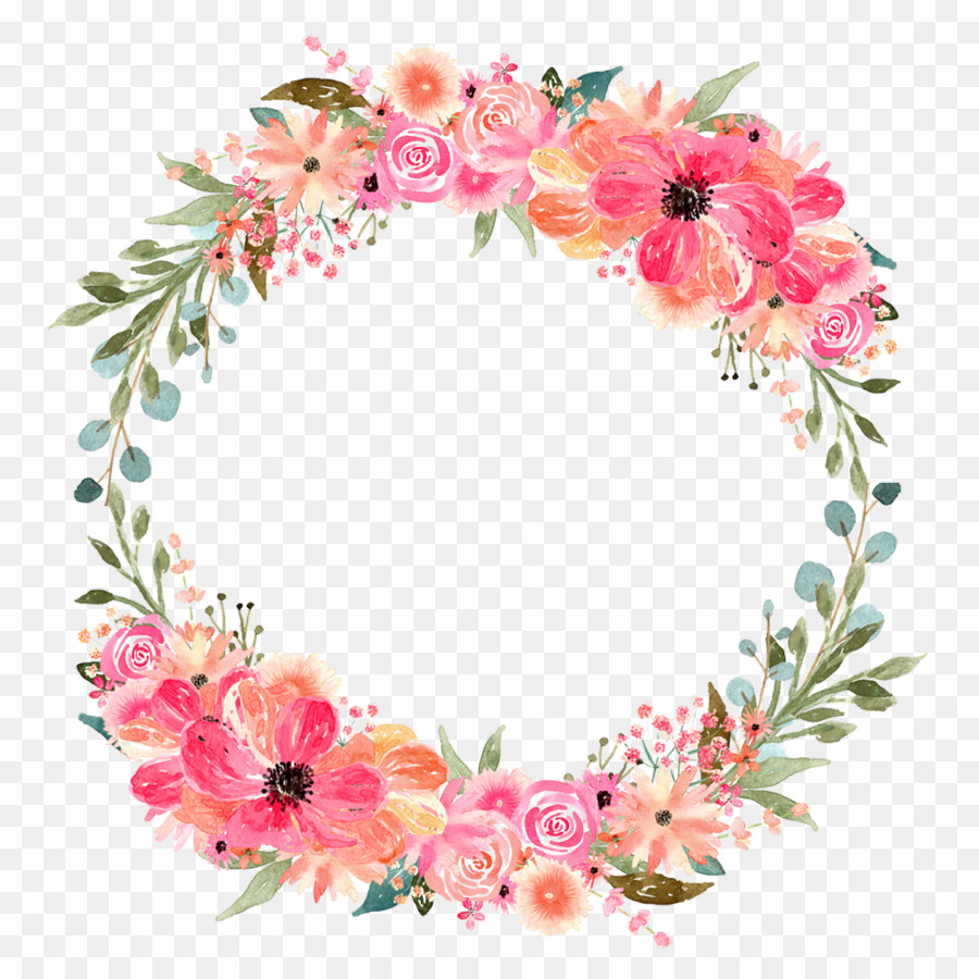 Vintage Pink Cream Rose Border Clip Art And