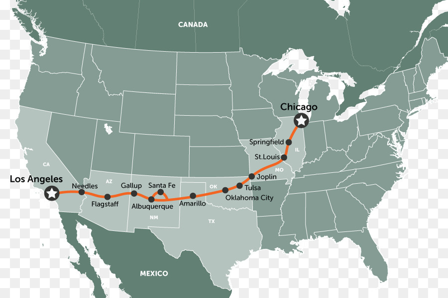 Road trip U S  Route 66 Road map   map png download   900 600   Free     Road trip U S  Route 66 Road map   map