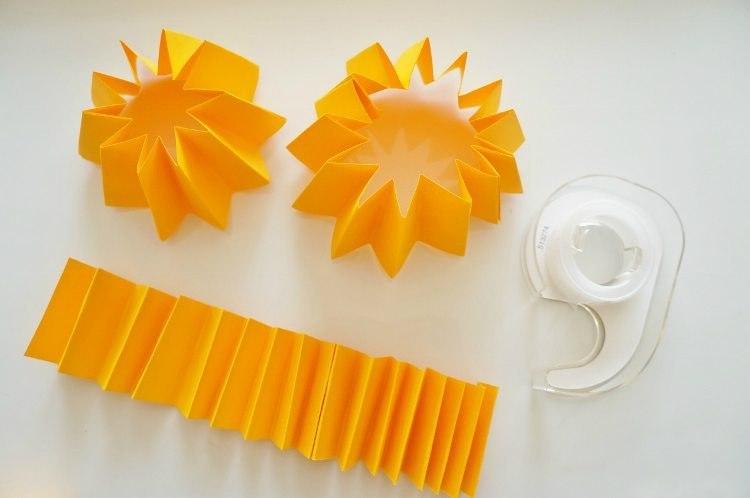 Mandarinks aus Papier4.