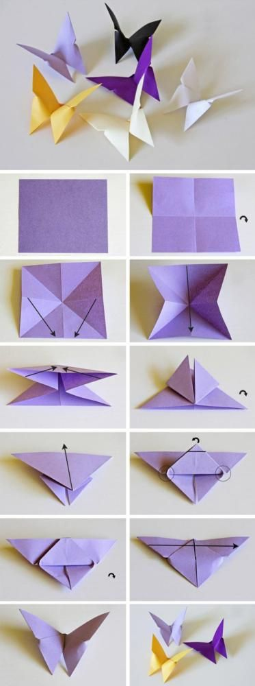 Origami-Schmetterling.