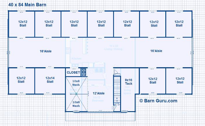 Horse Barn Layouts Floor Plans