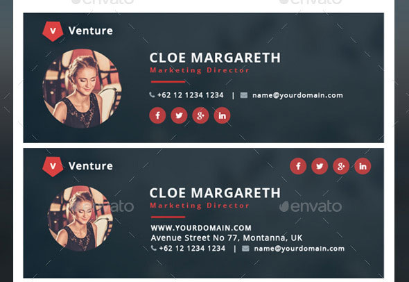 15 Awesome Email Signature Psd Templates Web Amp Graphic