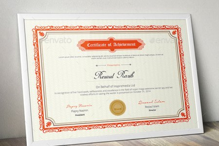 35 Best Certificate Template Designs   Web   Graphic Design   Bashooka Certificate  Download Template