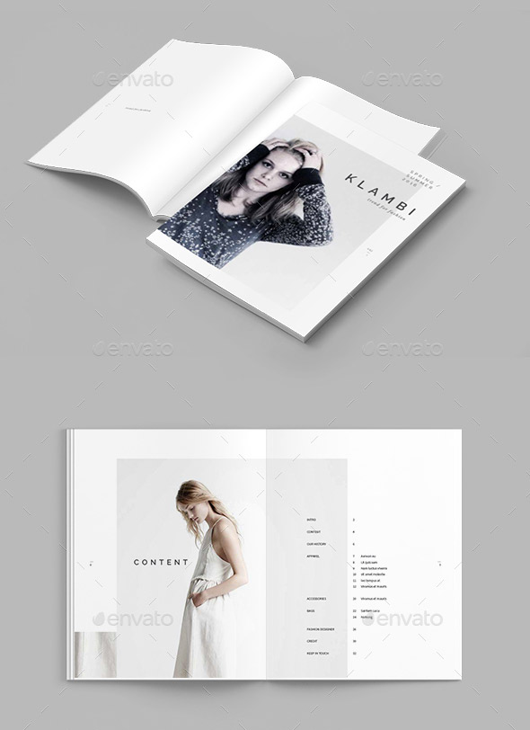 20 Gorgeous Indesign Lookbook Template Designs Web