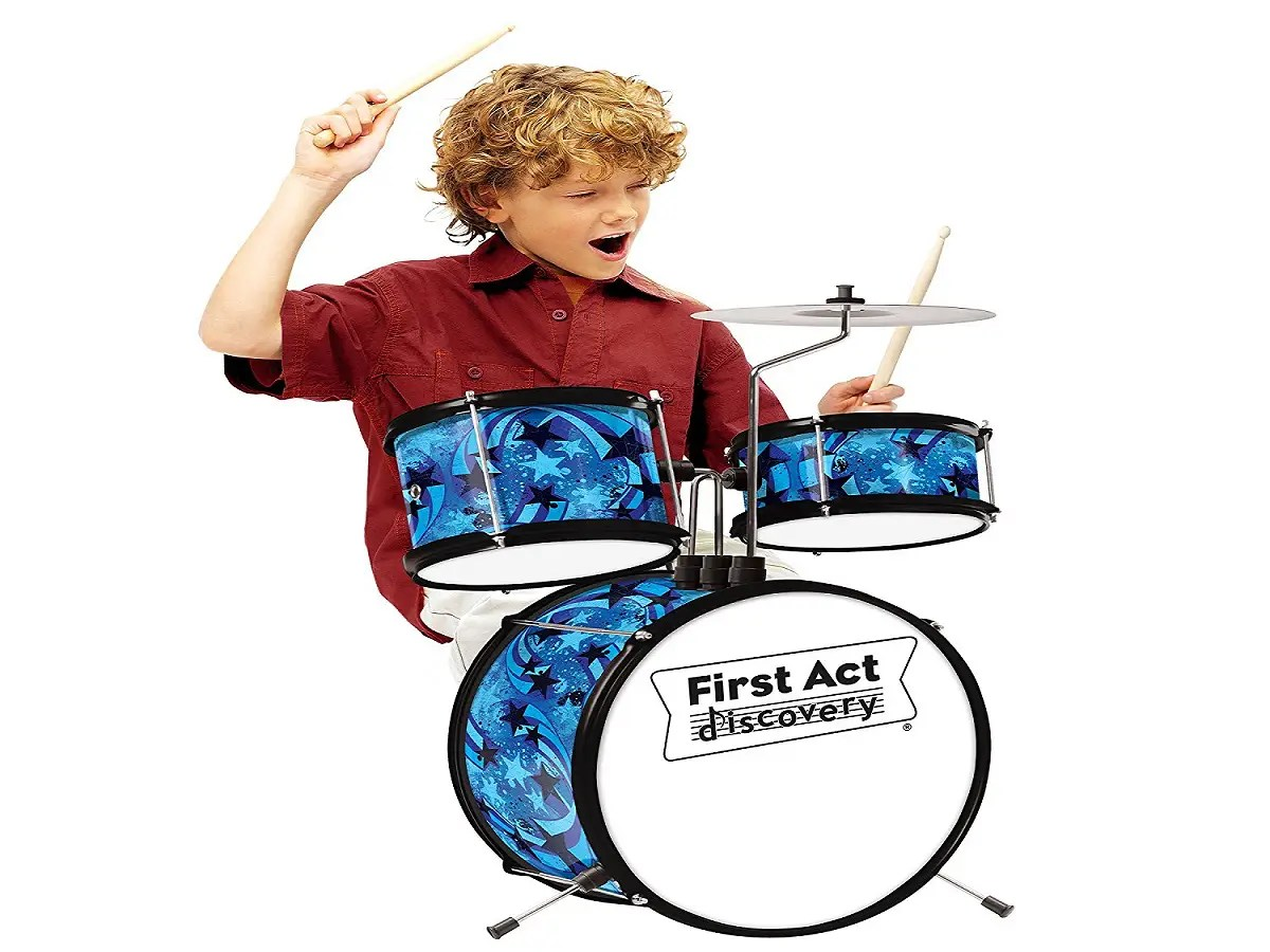 First Act Discovery Blue Swirls Stars Drum Set Review