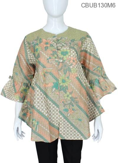 30 Model Gamis Batik Lengan Lonceng Fashion Modern Dan Terbaru