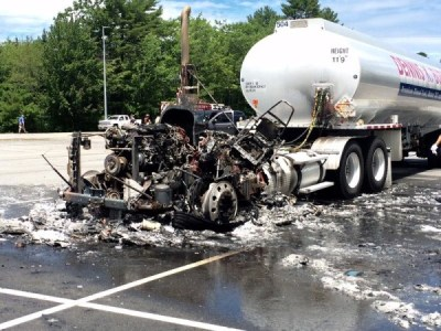 Fuel truck cab destroyed in Yarmouth fire — Portland ...